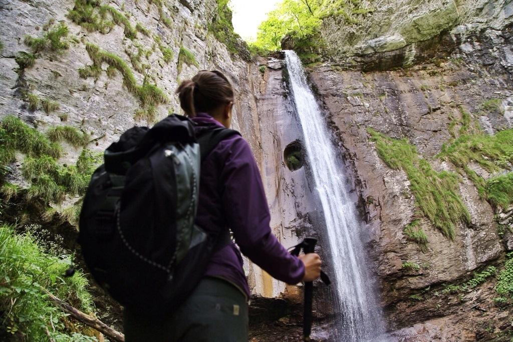 cascata del Rio Ferraia in Val Ferraia Liguria