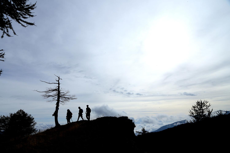 camminando sulle vette delle Alpi Liguri