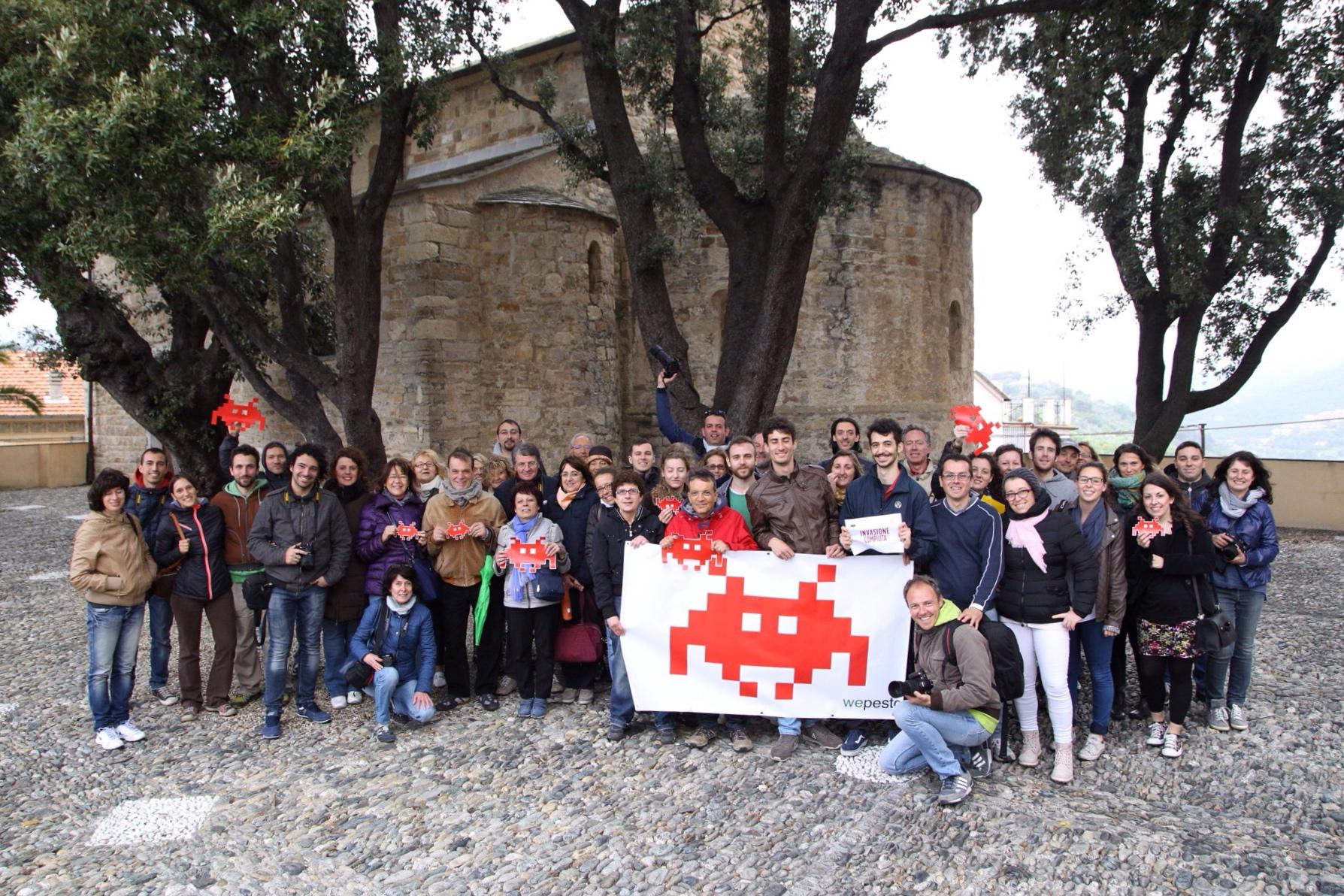 Il gruppo di invasori digitali per l'invasionedigitale 2015 di Diano Castello in Liguria